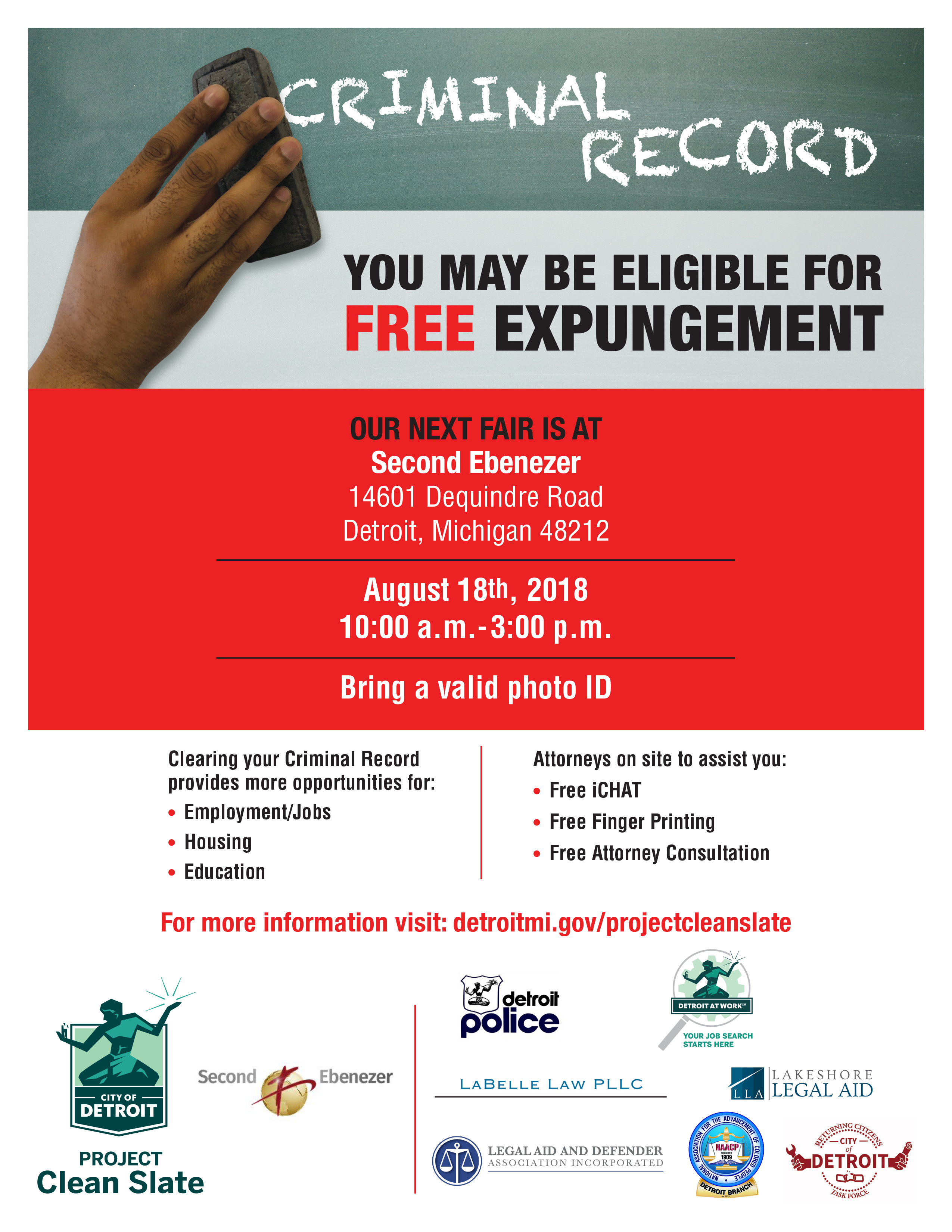 Project Clean Slate Expungement Fair