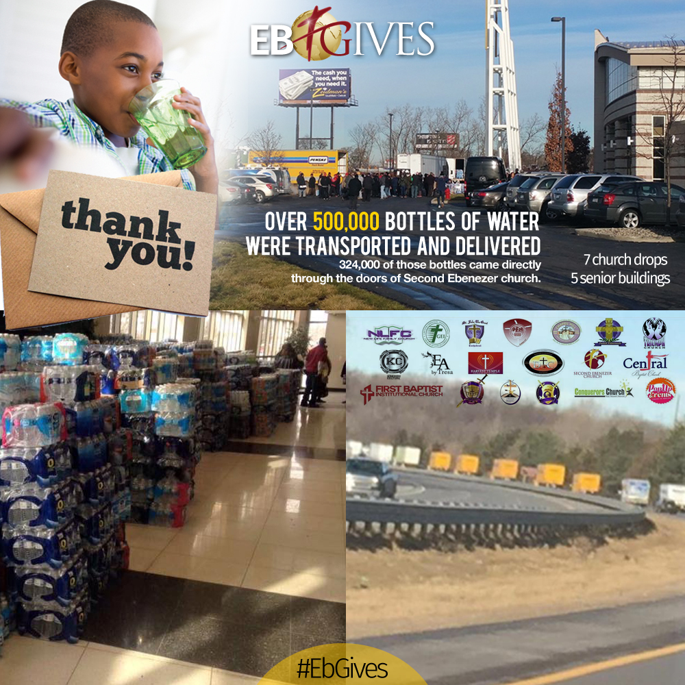 Eb Gives - Water for Flint Re-cap 02-07-2016