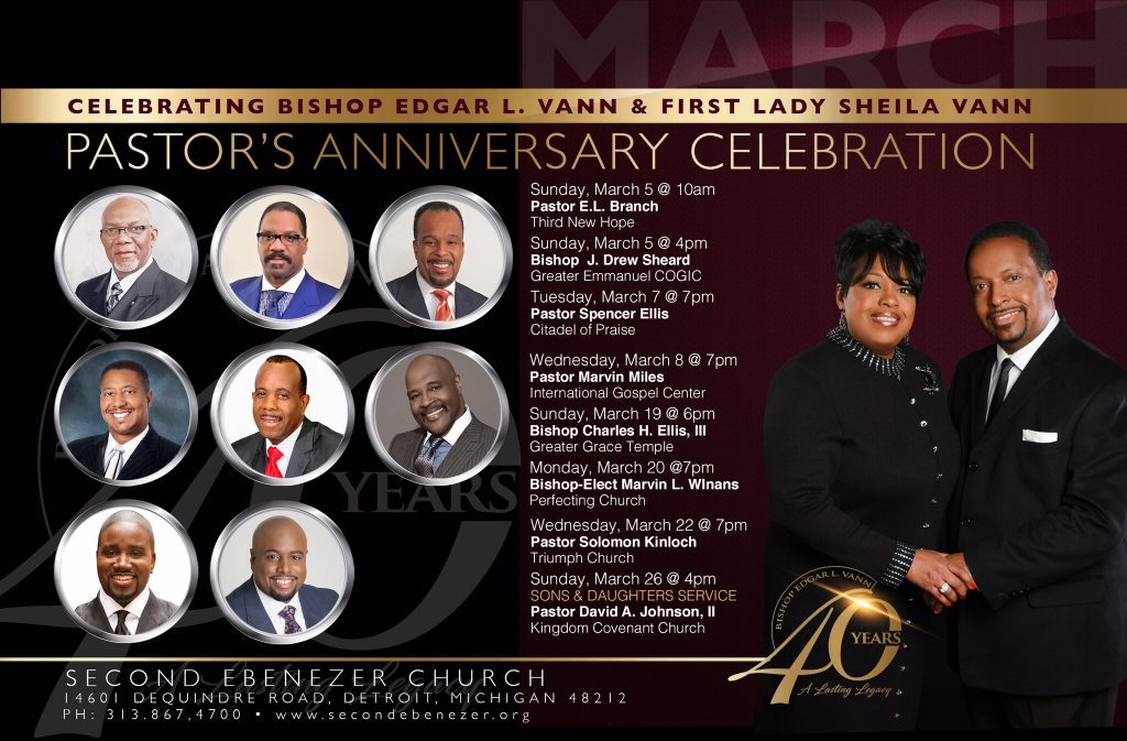 40th Anniversary Service, Bishop-Elect Marvin Winans