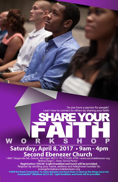 CANCELLED: Share Your Faith