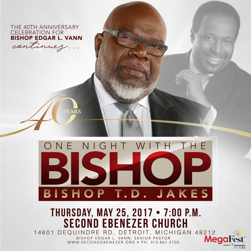 40th Anniversary Service, Bishop TD Jakes