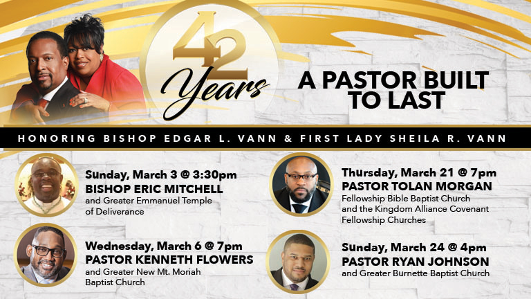 42nd Celebration: Pastor Tolan Morgan